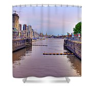 Puerto Madero Canal Shower Curtain