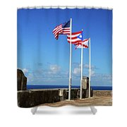 Puerto Rican Flags Shower Curtain