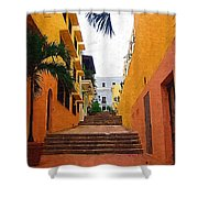 Puerto Rico Ally Way Shower Curtain