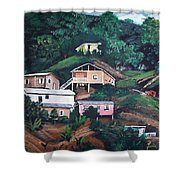 Puerto Rico Mountain View Shower Curtain