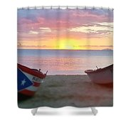 Puerto Rico Sunset On The Beach Shower Curtain