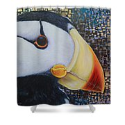 Puffin Glam Shower Curtain