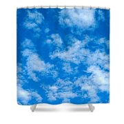 Puffs Scattered Shower Curtain