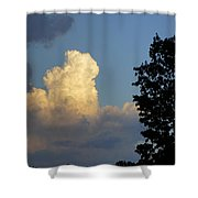Puffy Cloud Shower Curtain