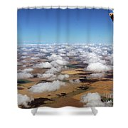 Puffy Clouds  3772 Shower Curtain