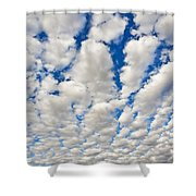 Puffy Clouds And Blue Sky Shower Curtain