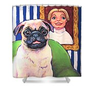 Pug - Beth Ann And Butch Shower Curtain