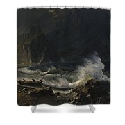 Puget  Sound  On  The  Pacific  Coast, Shower Curtain