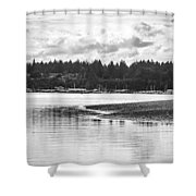 Puget Sound Reflections Shower Curtain