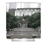 Pulitzer Fountain Shower Curtain