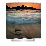 Pulled By The Tides Shower Curtain