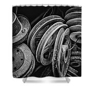 Pulled In Every Direction Shower Curtain