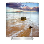 Pulled To The Sea Shower Curtain by Mike  Dawson