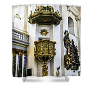 Pulpit Kalmar Cathedral Shower Curtain