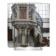 Pulpit - St Lambertus - Germany Shower Curtain