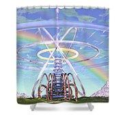Pulsar Beacon Shower Curtain