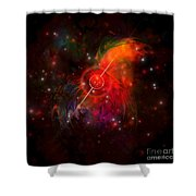 Pulsar Shower Curtain by Corey Ford