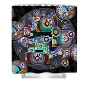Pulse Of The Motherboard Shower Curtain