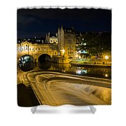 Pulteney Bridge At Night Shower Curtain