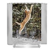 Puma High Jump Shower Curtain