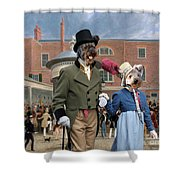 Pumi Art Canvas Print - Settling Day At Tattersalls Shower Curtain