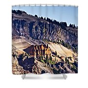 Pumice Castle Shower Curtain