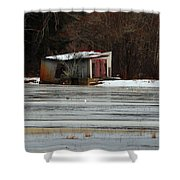 Pump House On The Cranberry Bog Shower Curtain