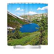 Pumphouse Lake I Shower Curtain