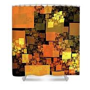 Pumpkin Autumn Cubes Shower Curtain