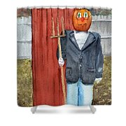 Pumpkin Farmer Shower Curtain