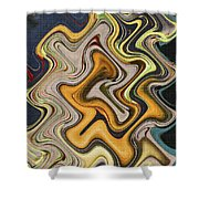 Pumpkin On Fence Abstract # 6822 Wwt Shower Curtain