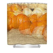 Pumpkin Overlay Shower Curtain