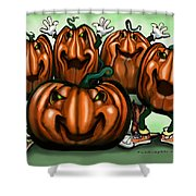 Pumpkin Party Shower Curtain