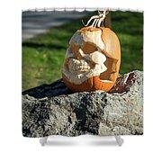 Pumpkin Skull Shower Curtain