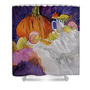 Pumpkin Still Life Shower Curtain
