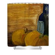 Pumpkins And Wine  Shower Curtain