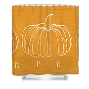 Pumpkins- Art By Linda Woods Shower Curtain by Linda Woods