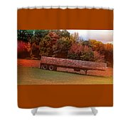 Pumpkins Mellow Shower Curtain
