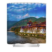 Punakha Dzong Shower Curtain