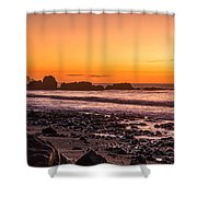Punakiaki Sunset Shower Curtain