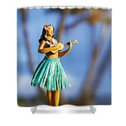 Punaluu, Hula Doll Shower Curtain
