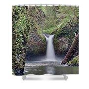 Punch Bowl Falls At Eagle Creek Closeup Shower Curtain