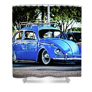 Punch Buggie Blue Shower Curtain