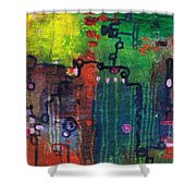Punctuated Silences Shower Curtain