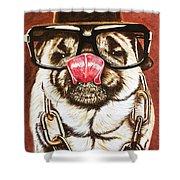 Punk Pug Shower Curtain