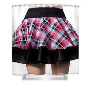 Punk Style Mini Skirt - Ameynra Fashion Shower Curtain