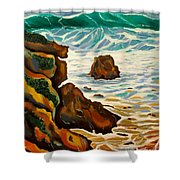 Punta Rincon Shower Curtain by Milagros Palmieri