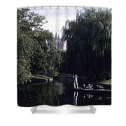 Punters Glide Past Trinity College Shower Curtain