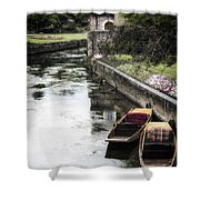 Punting Boats Shower Curtain