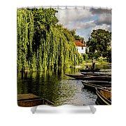 Punting, Cambridge. Shower Curtain